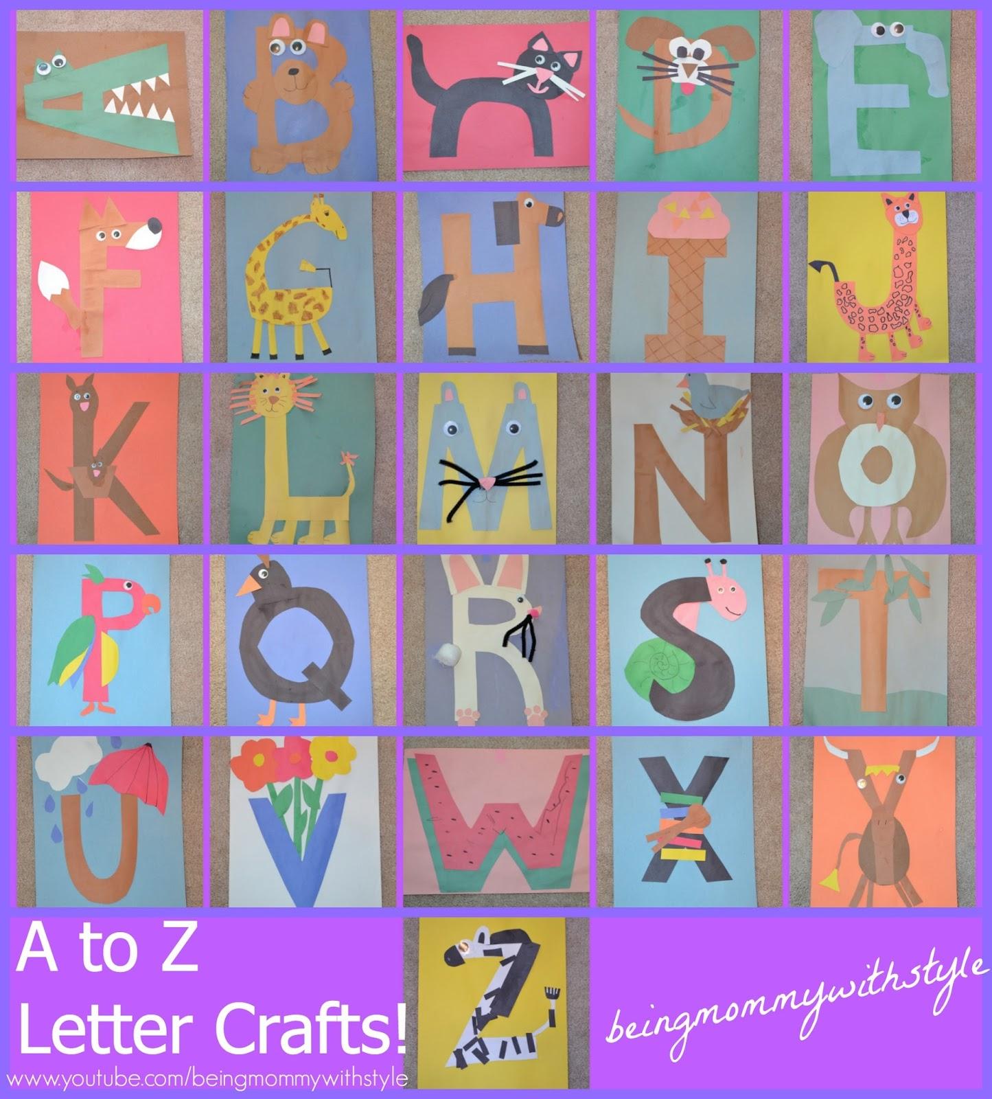 Alphabet Letter Craft DIY