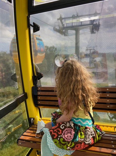Natalie on the Skyliner