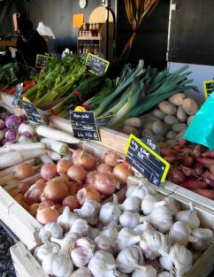 Loose veg at a market, refuse the plastic bags and use your own.