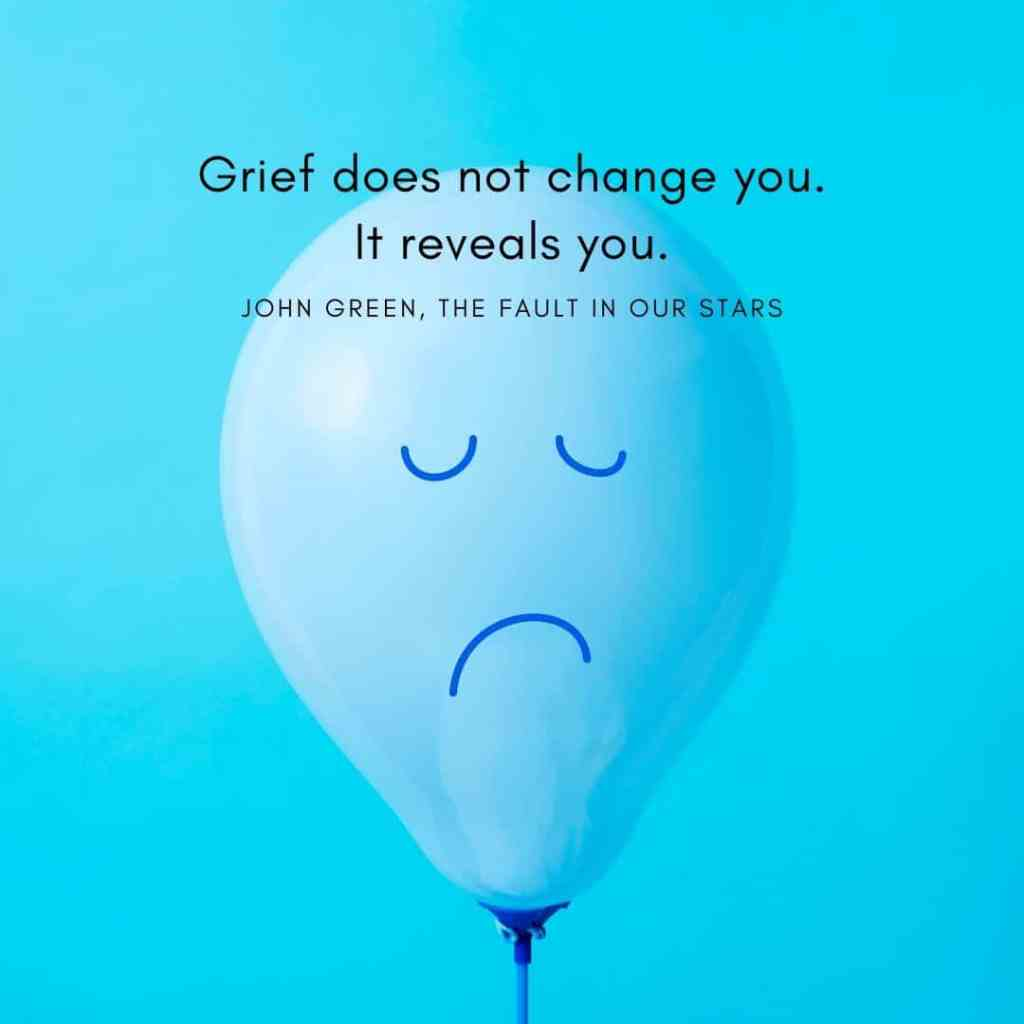 grief quote fault in our stars