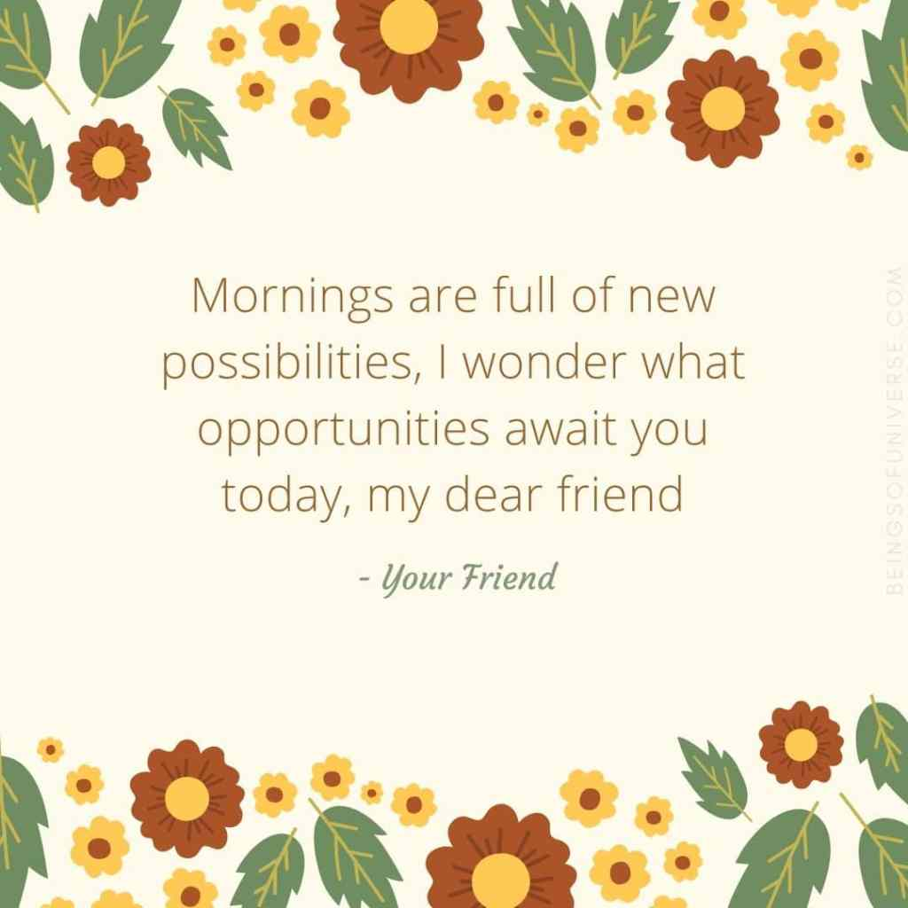 morning wish for friend