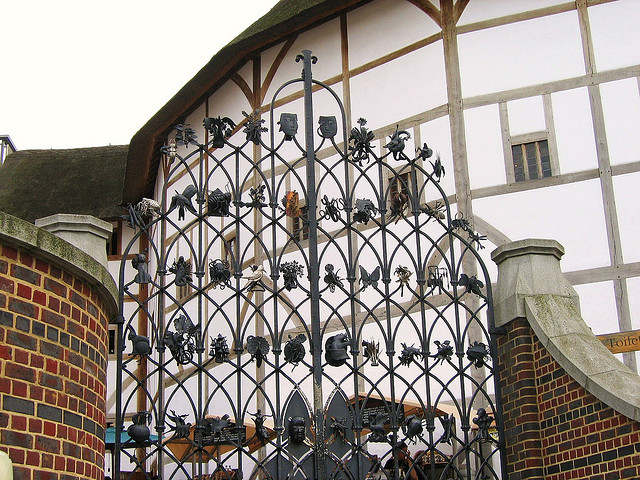 Globe theater gate