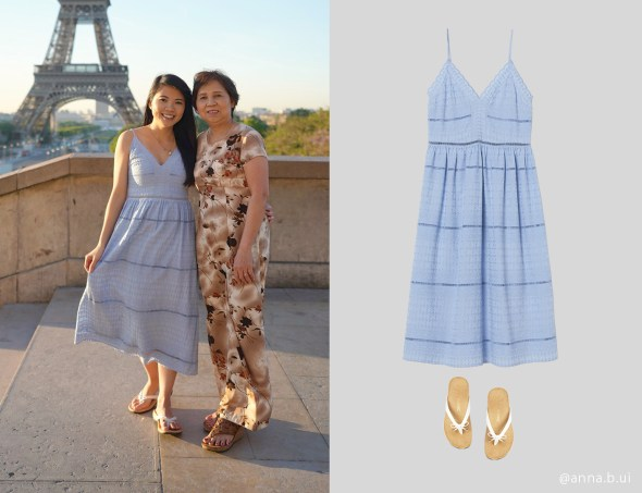 BeInspireful - Pairs Blue Dress - Eiffel Tower 1