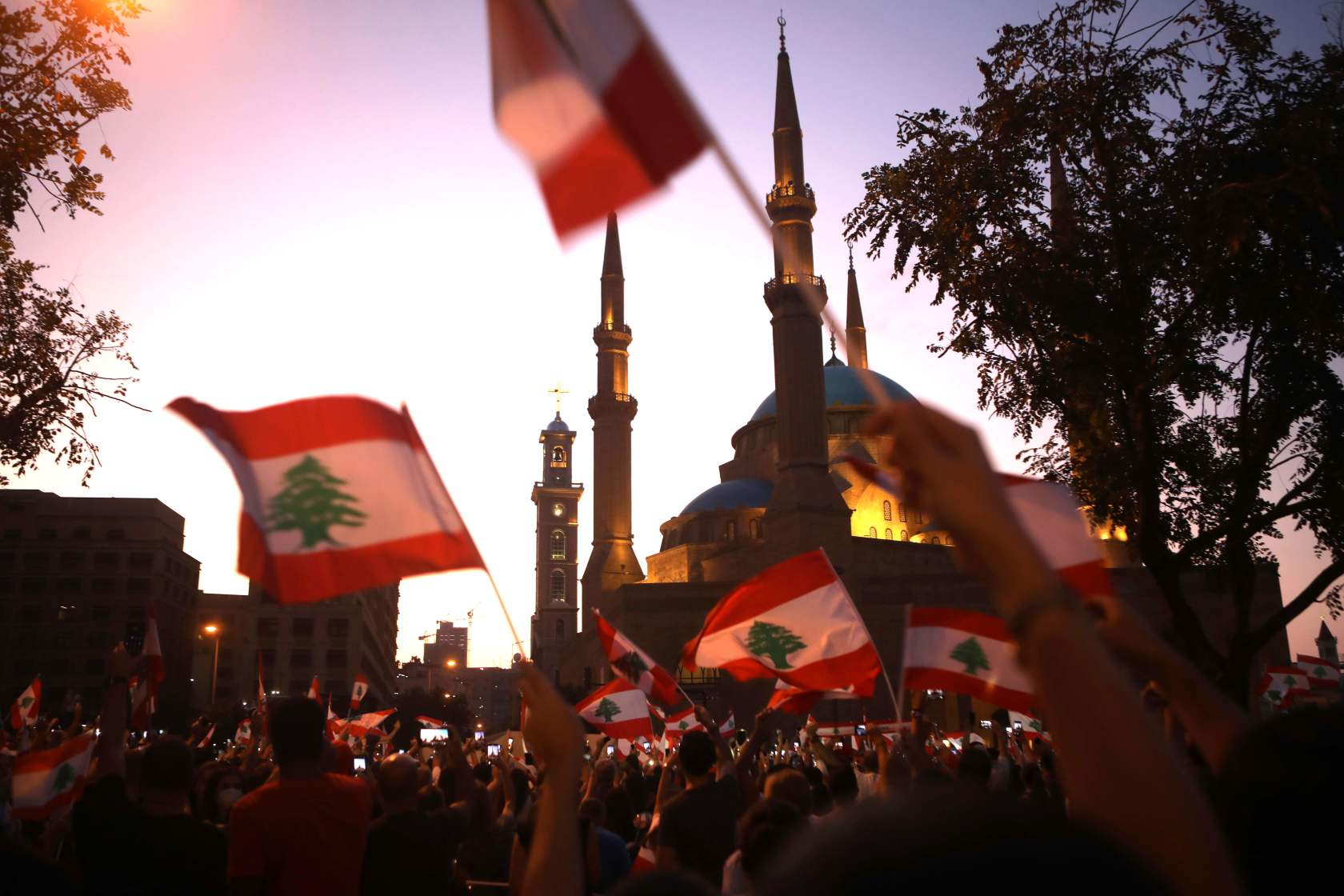 Their city lacks public spaces for protests, so Beirut residents made their own