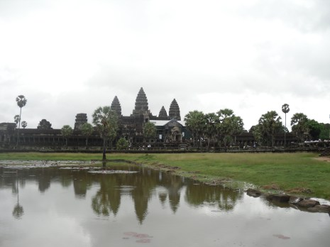 Looking back at Angkor wat