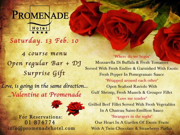 Valentine @ Promenade Hotel