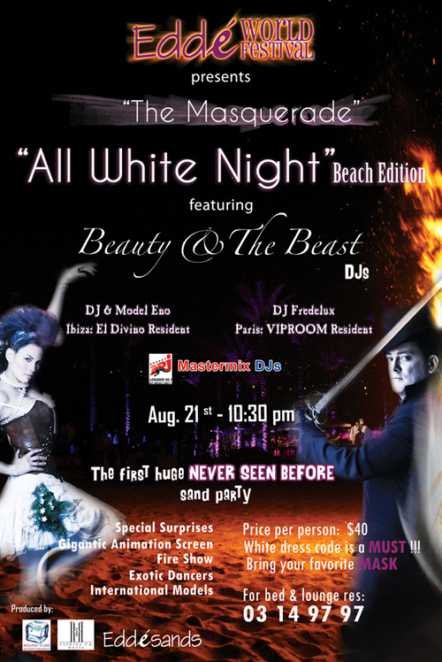 The Masquerade at Edde Sands- All White Night Beach Edition