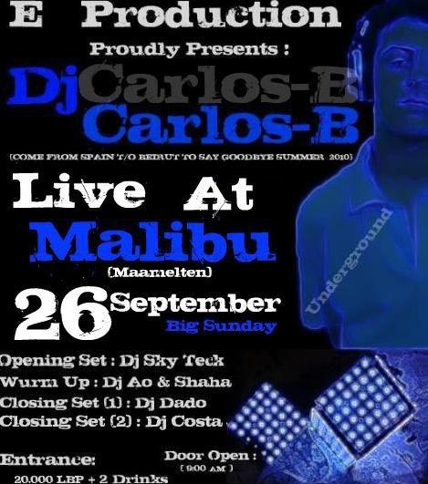 DJ Carlos-B Live At Malibu (GoodBye Summer)