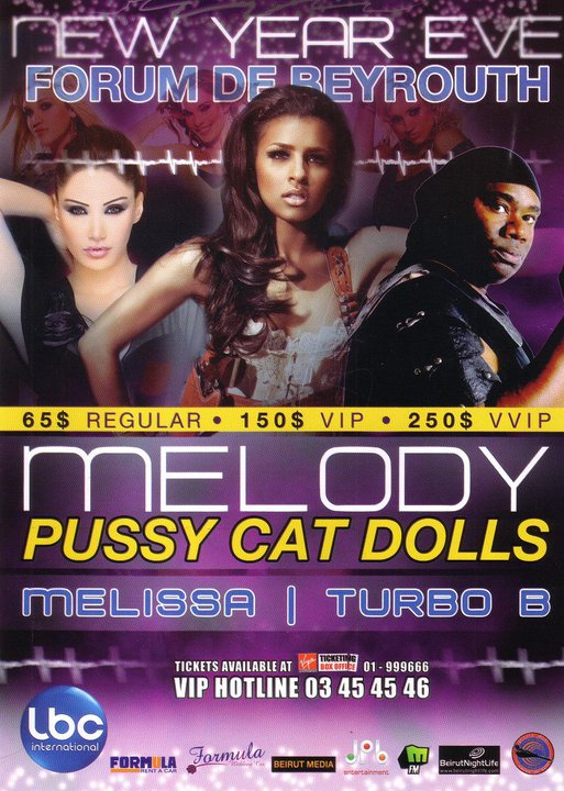 New Year's Eve Pussycat Dolls – Melissa – Turbo B At Forum De Beyrouth