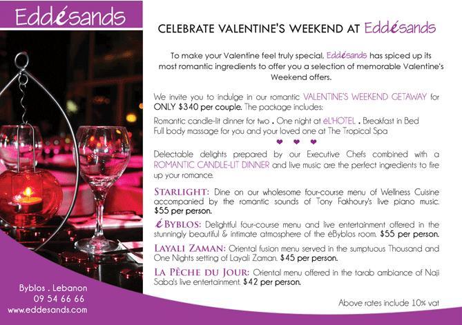 Celebrate Valentine's Weekend At EddeSands