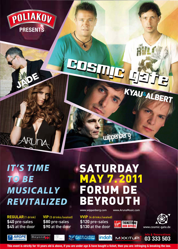 DJ's Cosmic Gate Return to Beirut