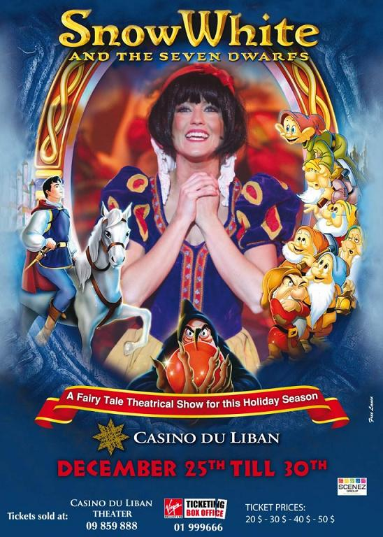 Snow White And The Seven Dwarfs At Casino Du Liban