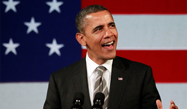 "U.S. President Barack Obama Shouts Out to Al Green Singing ""Let's stay Together"""