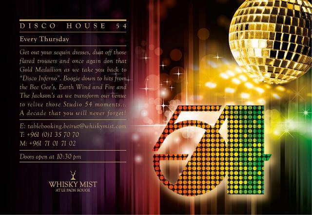 Disco House 54 At Whisky Mist