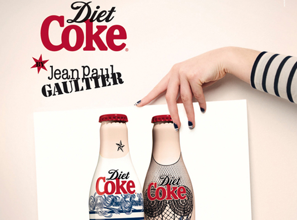 Jean Paul Gaultier Designs Glamorous Diet Coke Bottles