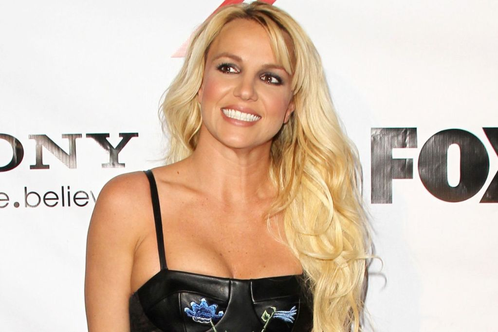Britney Spears shows off her little boobs and facial expressions at X Factor party