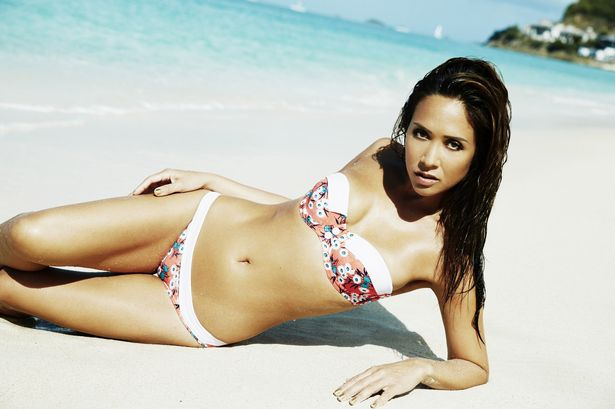 Myleene Klass shows off her sexy bod in her new bikini range