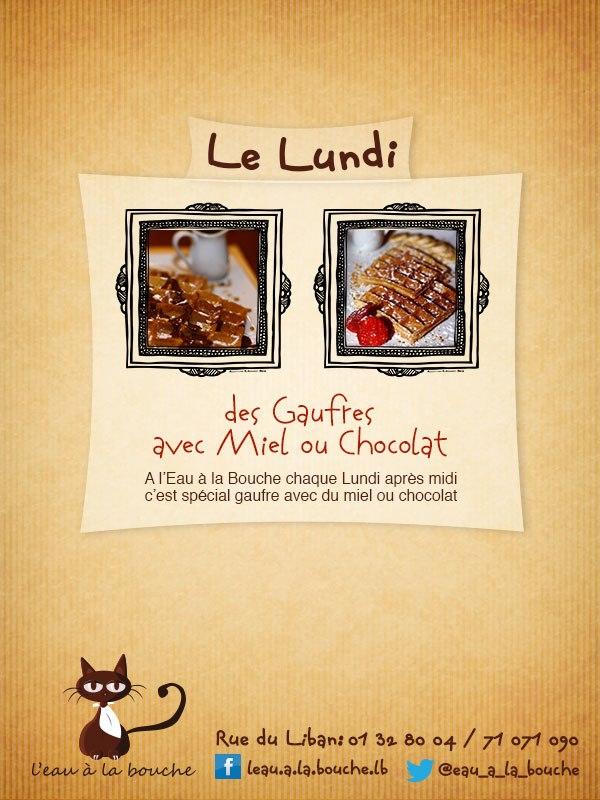 Waffles at L'eau a La Bouche