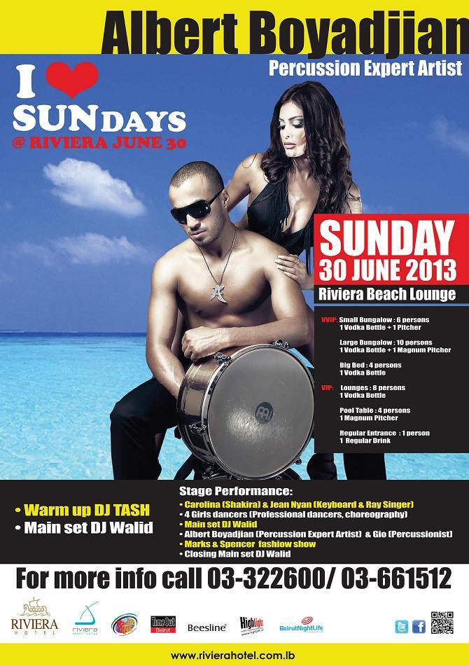 I Love SUNdays at Riviera Beach Lounge