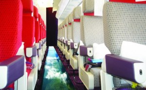 Virgin launches glass-bottomed plane