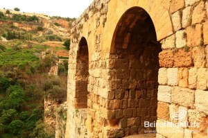 The Ancient Ruins of Anater Zbeideh Roman Aqueduct