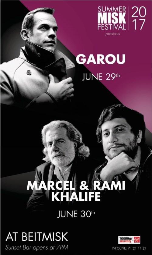 Win Tickets to Watch GAROU & MARCEL KHALIFE at Summer Misk Festival 2017