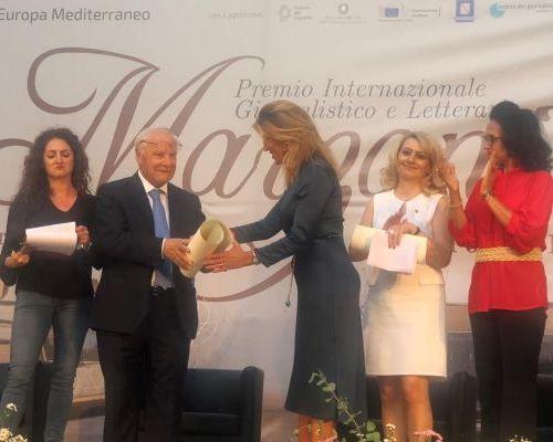 بلدية سان جورجيو دل سانيو الايطالية تمنح السفيرة ضاهر جنسية فخرية