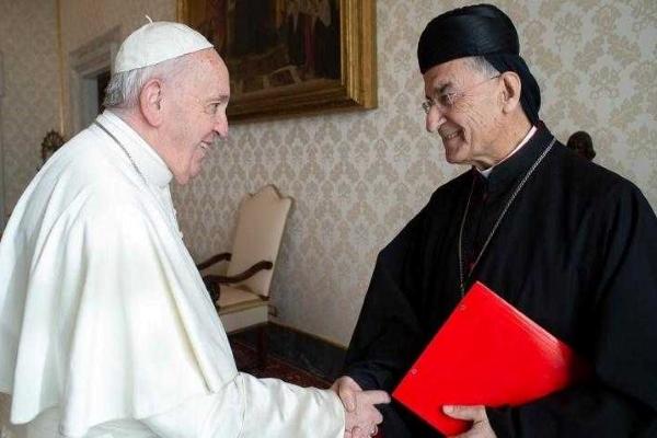 الراعي سلم البابا فرنسيس تقريرا عن الاوضاع وجدد دعوته لزيارة لبنان