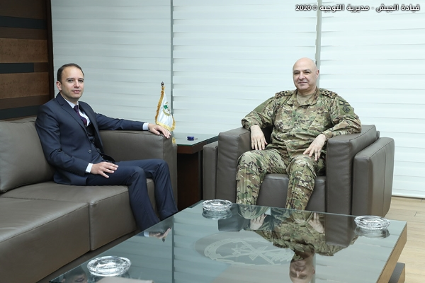 قائد الجيش استقبل محافظ بعلبك الهرمل