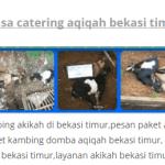 paket kambing  aqiqah di tambun bekasi