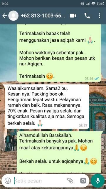 Rekomendasi Jasa Aqiqah di Bekasi murah
