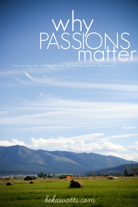 why passions matter
