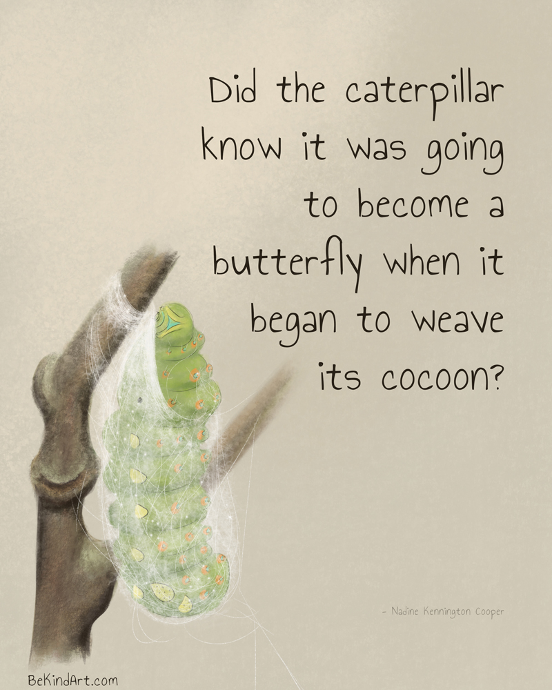 When the caterpillar became a butterfly