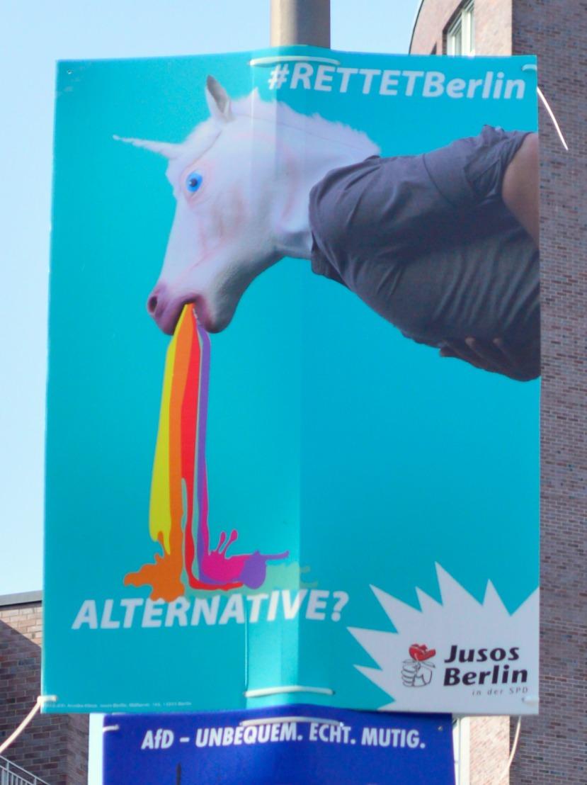 #rettetBerlin #unicorn #rainbow be kitschig blog