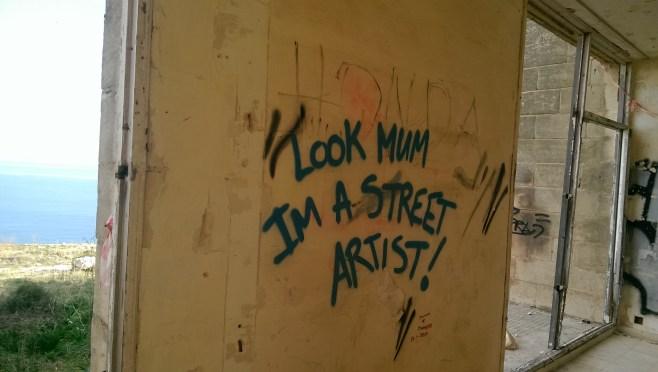 street art malta strassenkunst White Rocks