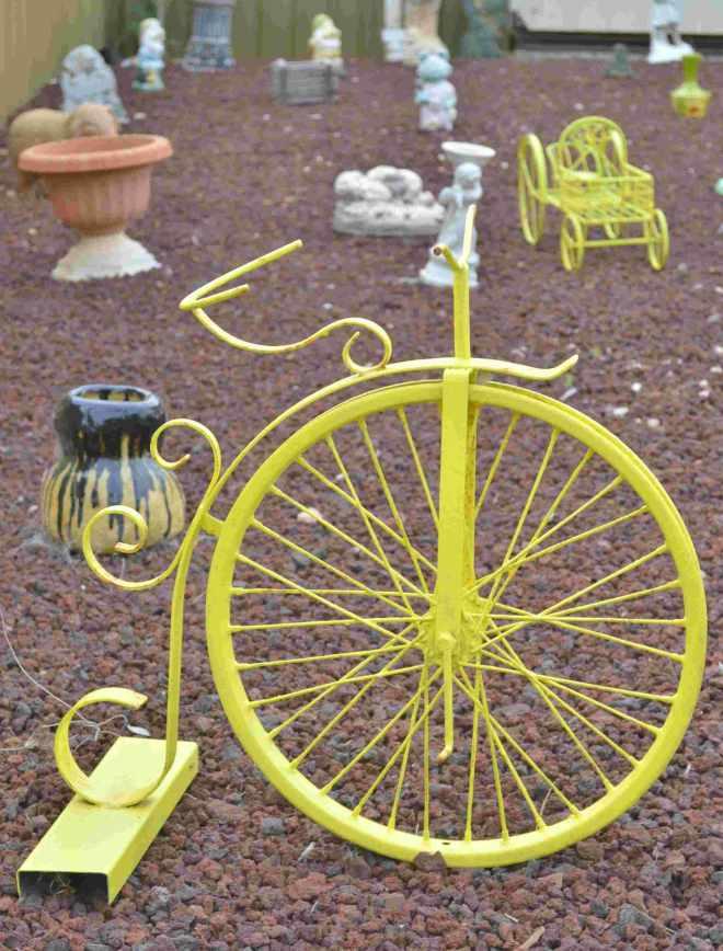 Unicycle Garden Sculpture