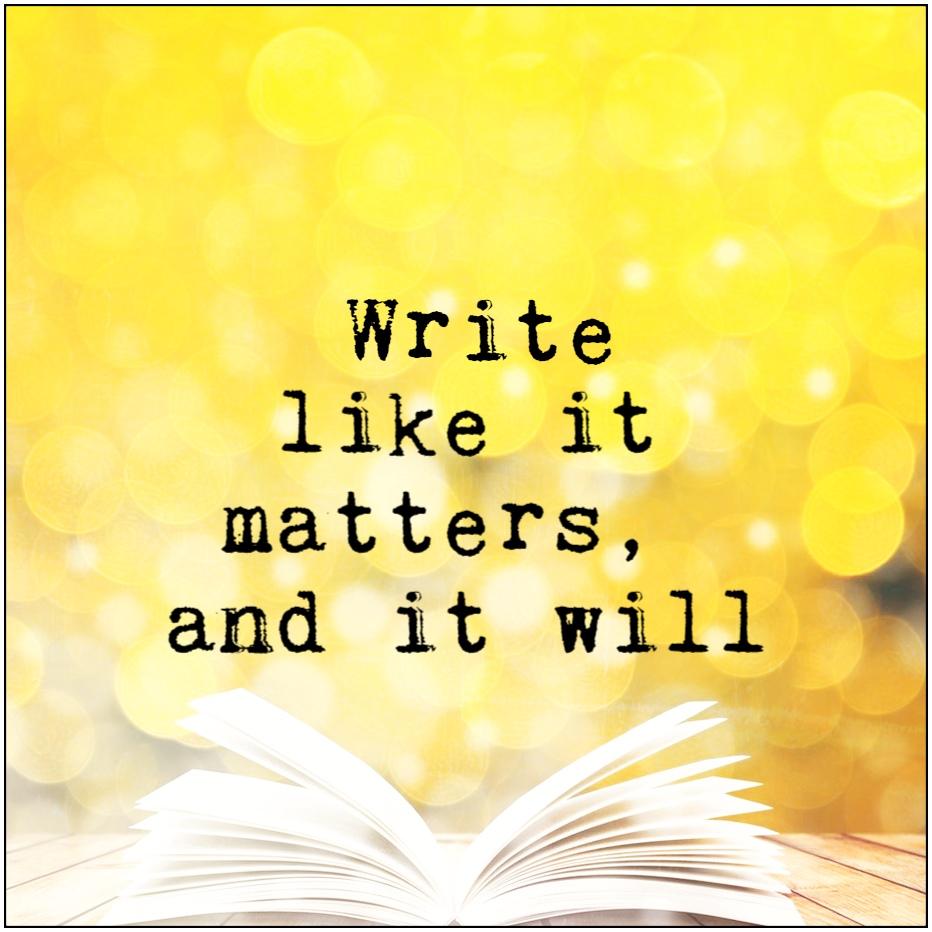 Write like it matters, and it will Libba Bray be kitschig blog