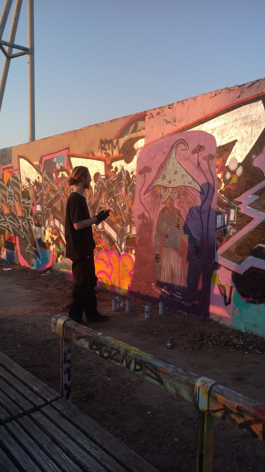 Wall to practice sprazign in mauerpark berlin