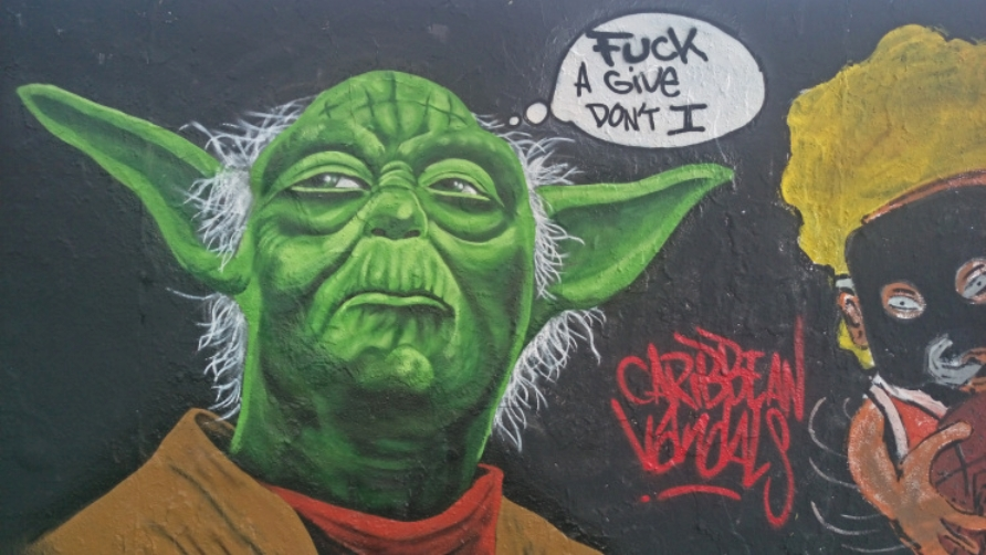 street art graffiti Berlin Mauerpark be kitschig blog eme freethinker caribbean vandals #yoda