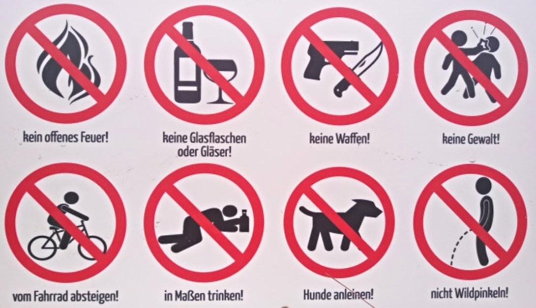 Verbotsschilder prohibited signs