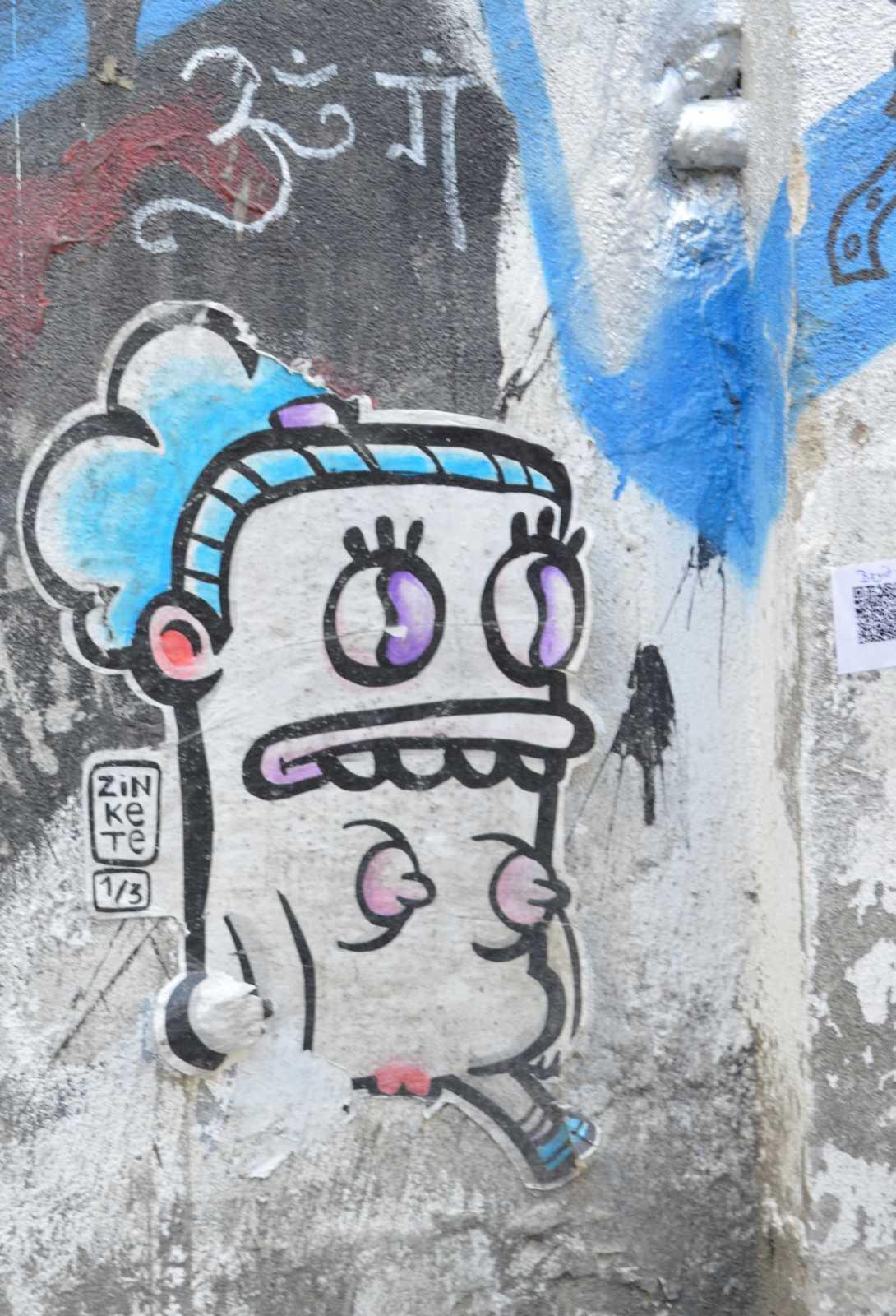 strassenkunst Berlin paste up Zinkete