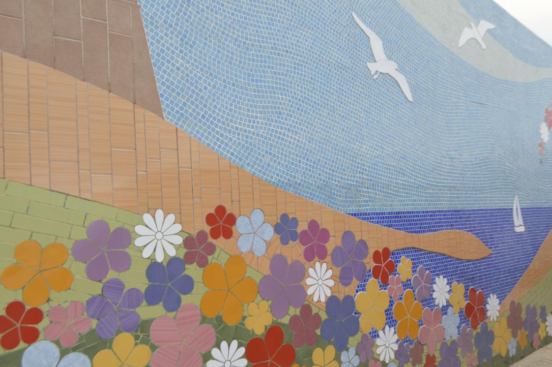 Gozo Mgarr Harbour Mosaic Mosaik by Marie Gozomosaic flowers