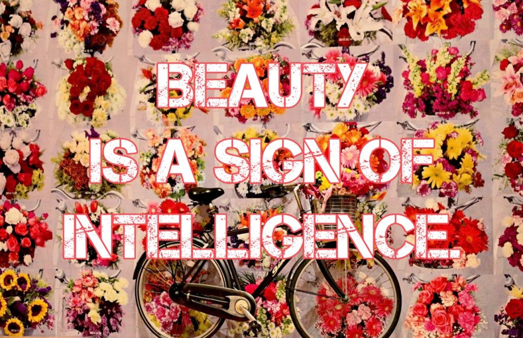 Andy warhol Quote Beauty is a sign of intelligence