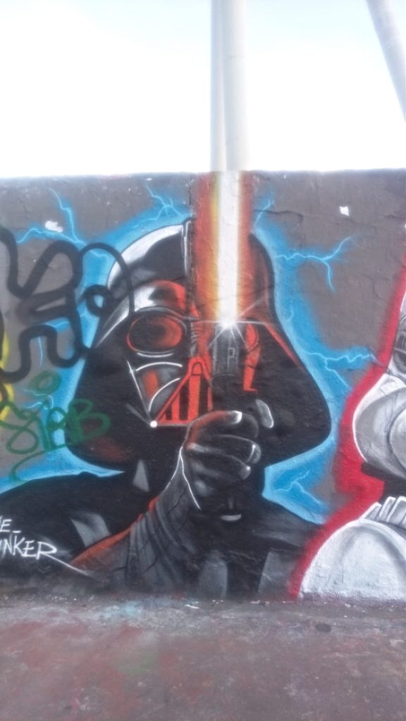 eme freethinker mauerpark Berlin street art graffitti darth vader