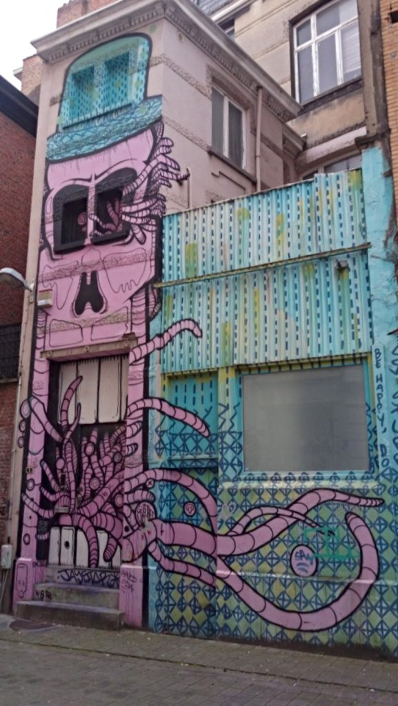 grafitti house in down town Antwerp