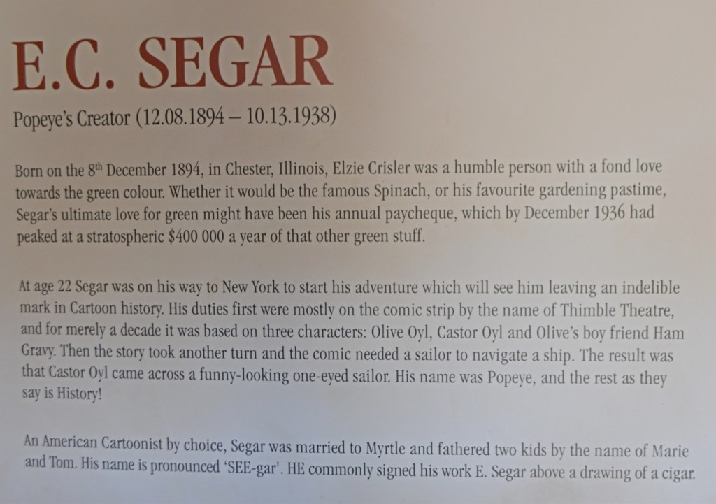 E.C. Segar creator of Popeye the sailor be kitschig blog