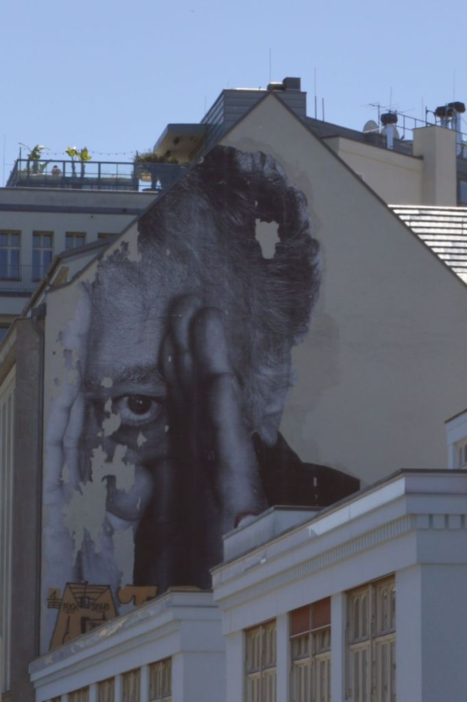Street art postcards from Berlin #18 JR Wrinkles of the city