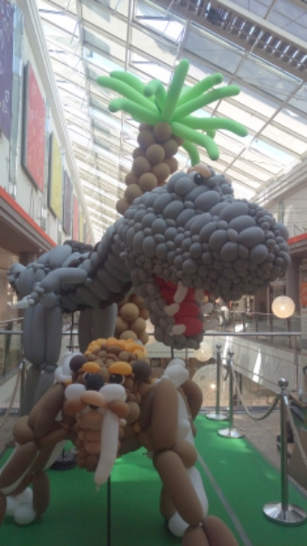 Dinosaur Balloon Art be kitschig blog