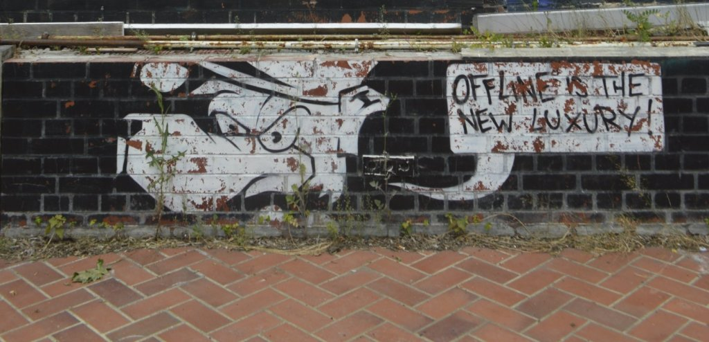 off line is the new luxury streetart