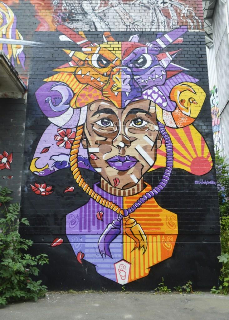 Be Kitschig Blog Street Art Berlin Teufelsberg Woman Mural Sebo Creation